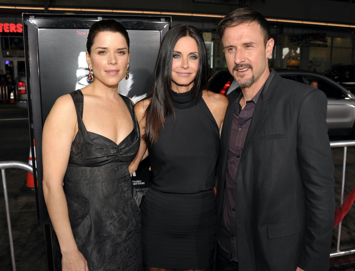 Neve Campbell, Courteney Cox, and David Arquette at the 'Scream 4'