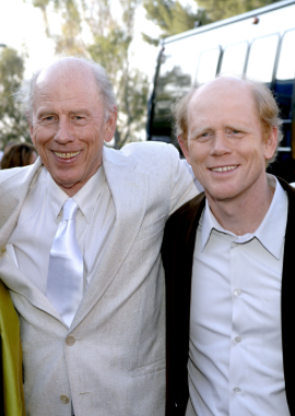 (Lto R): Rance Howard and his son, Ron