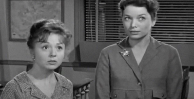 Betty Lynn, left, and Aneta Corsaut on 'The Andy Griffith Show'