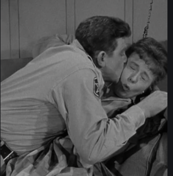 Andy Griffith and Betty Lynn in a scene from 'Cyrano Andy'