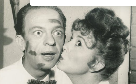 Don Knotts and Betty Lynn as Barney Fife and Thelma Lou