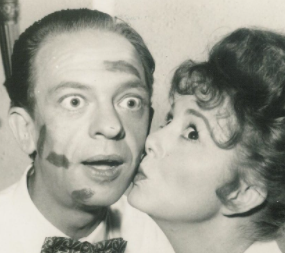 Don Knotts and Betty Lynn in a scene from 'The Andy Griffith Show'