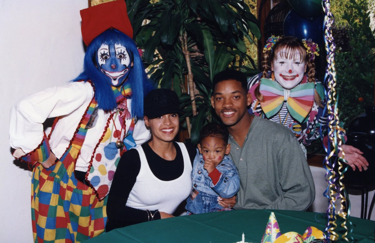 Sheree Zampino and Will Smith with their son, Trey Smith