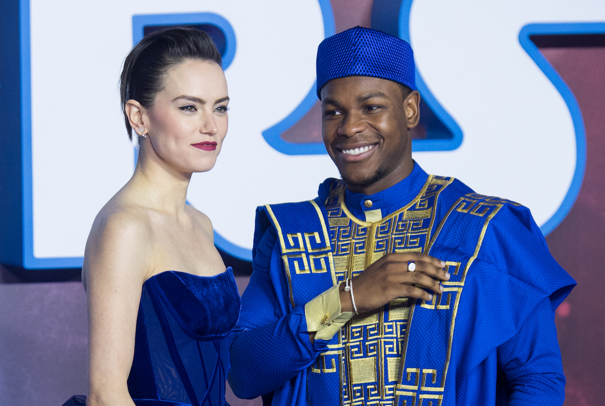 John Boyega and Daisy Ridley at the 'Star Wars: The Rise of Skywalker' European premiere