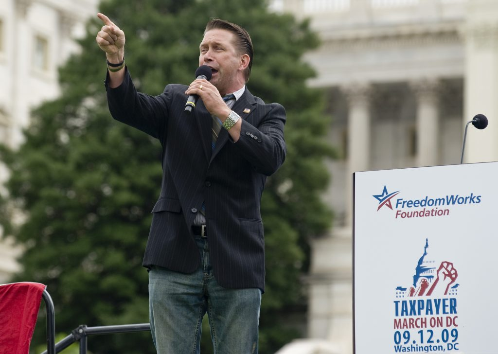 Stephen Baldwin speaks to the crowd on the West Lawn of the Capitol on Sept. 12, 2009