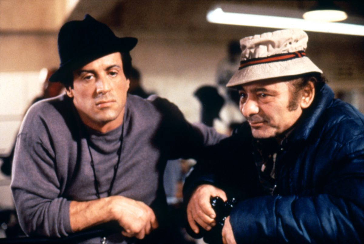 Sylvester Stallone and Burt Young