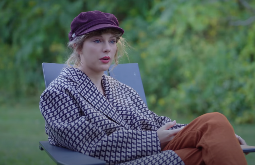 Taylor Swift in the 'Folklore: The Long Pond Sessions' on Disney+   YouTube