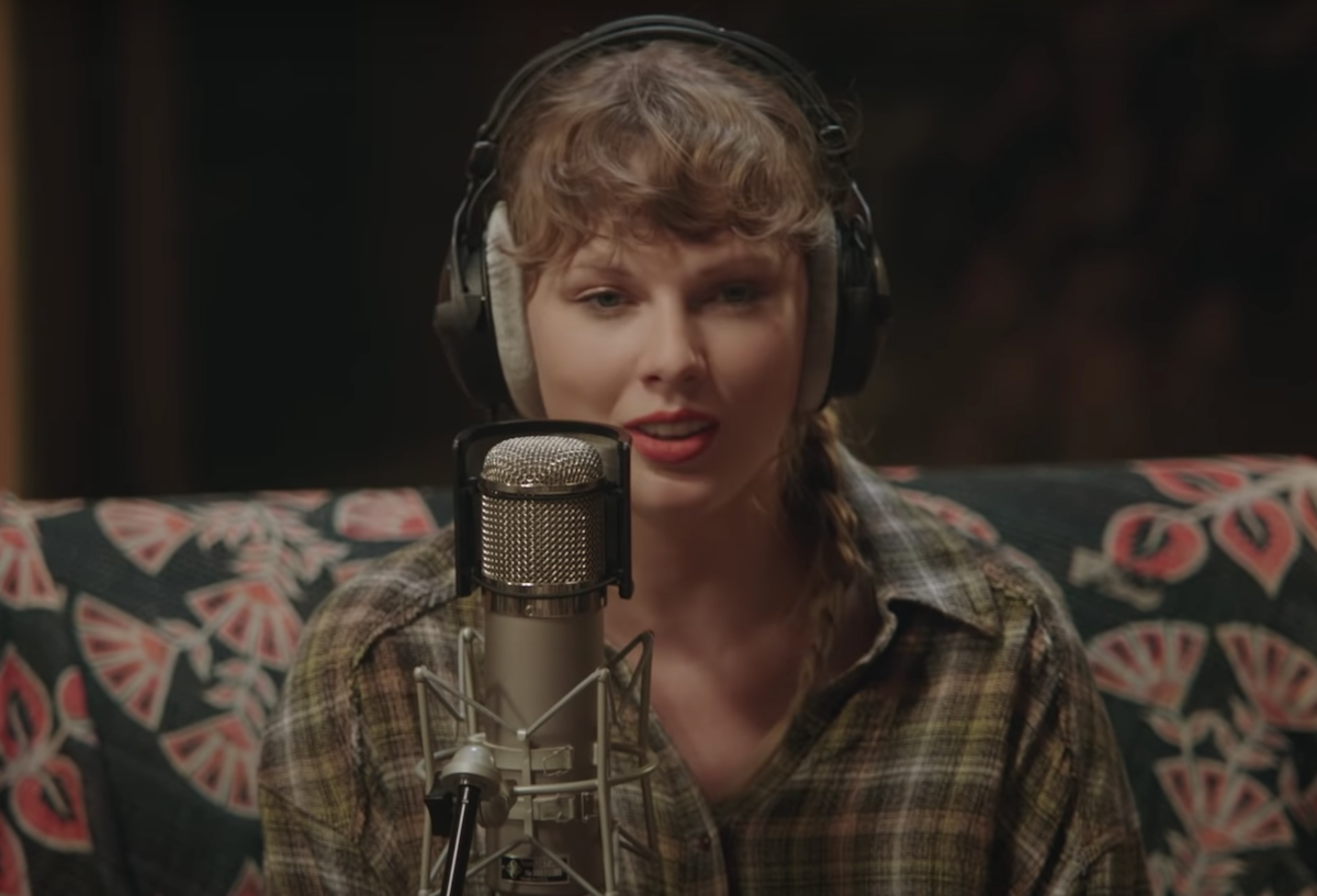 Taylor Swift in the 'Folklore' Disney+ concert trailer   YouTube