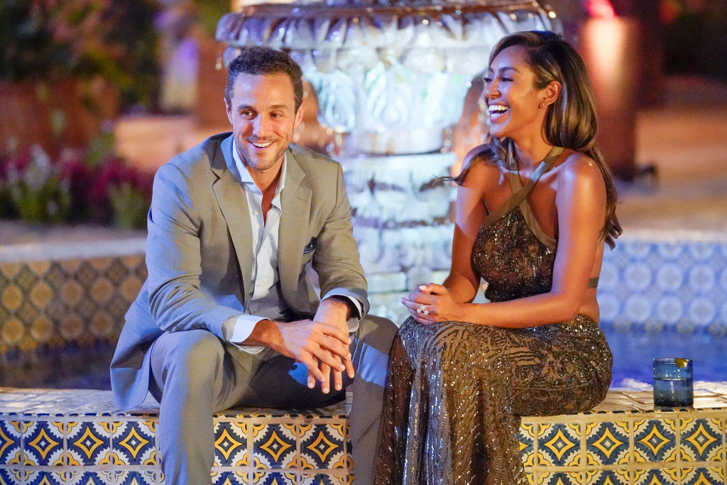 Tashia and Zac C. on the Bachelorette