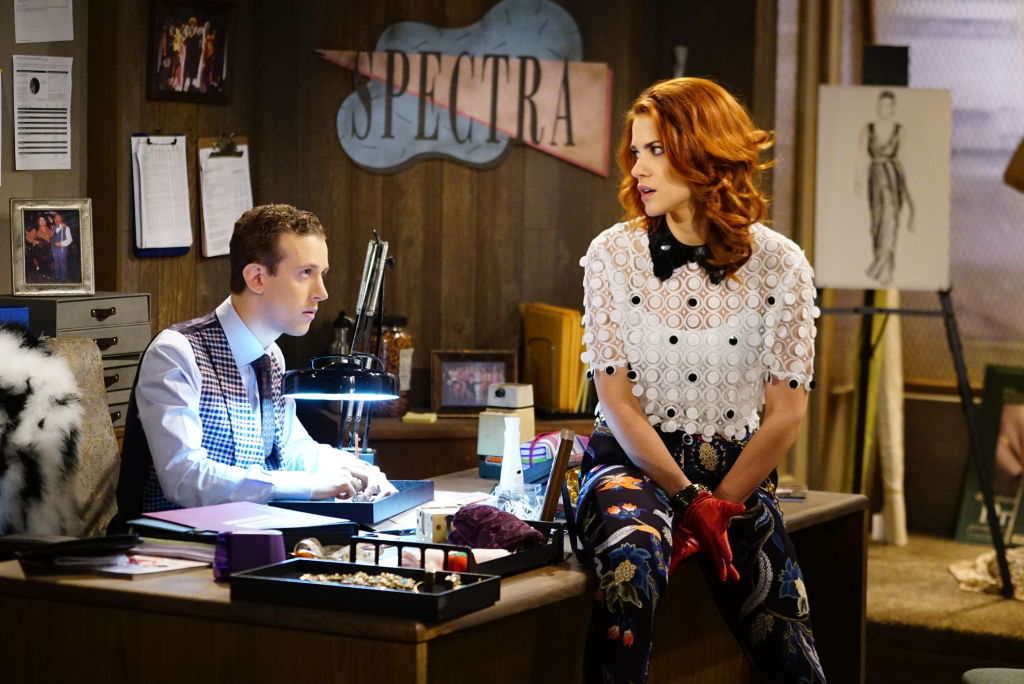 (L-R) Alex Wyse as Saul Feinberg and Courtney Hope is Sally Spectra on 'The Bold and the Beautiful'
