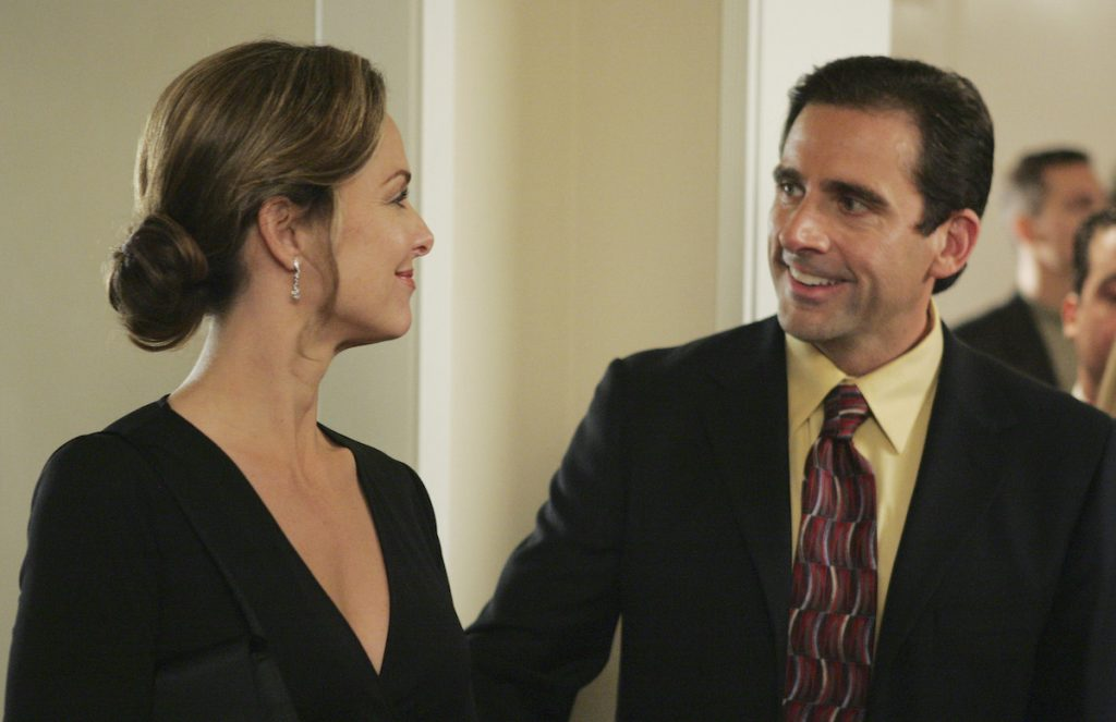 Melora Hardin as Jan Levinson and Steve Carell as Michael Scott on 'The Office'