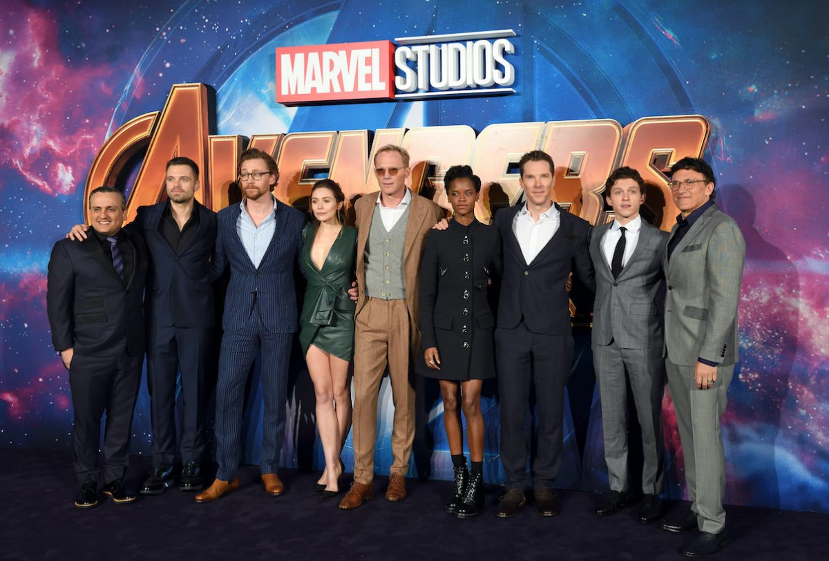 The Russo Brothers with 'Avengers Infinity War' cast members at a fan event