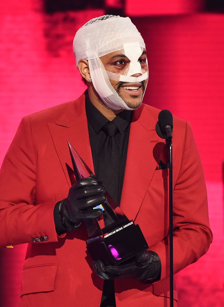 The Weeknd at the American Music Awards