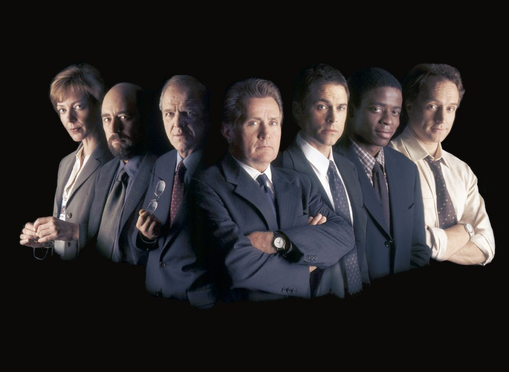 The cast of 'The West Wing.'