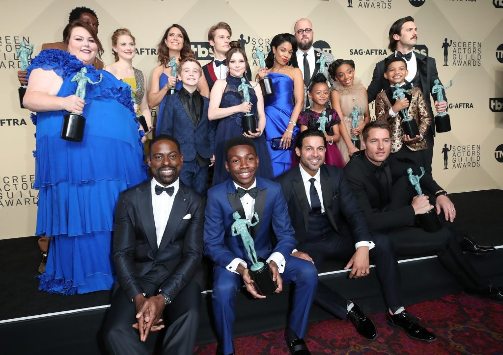 'This Is Us' Jermel Nakia, Chrissy Metz, Alexandra Breckenridge, Mandy Moore, Parker Bates, Hannah Zeile, Logan Shroyer, Lonnie Chavis, Chris Sullivan, Susan Kelechi Watson, Eris Baker, Milo Ventimiglia, and Faithe Herman, Sterling K. Brown, Niles Fitch, Jon Huertas, and Justin Hartley