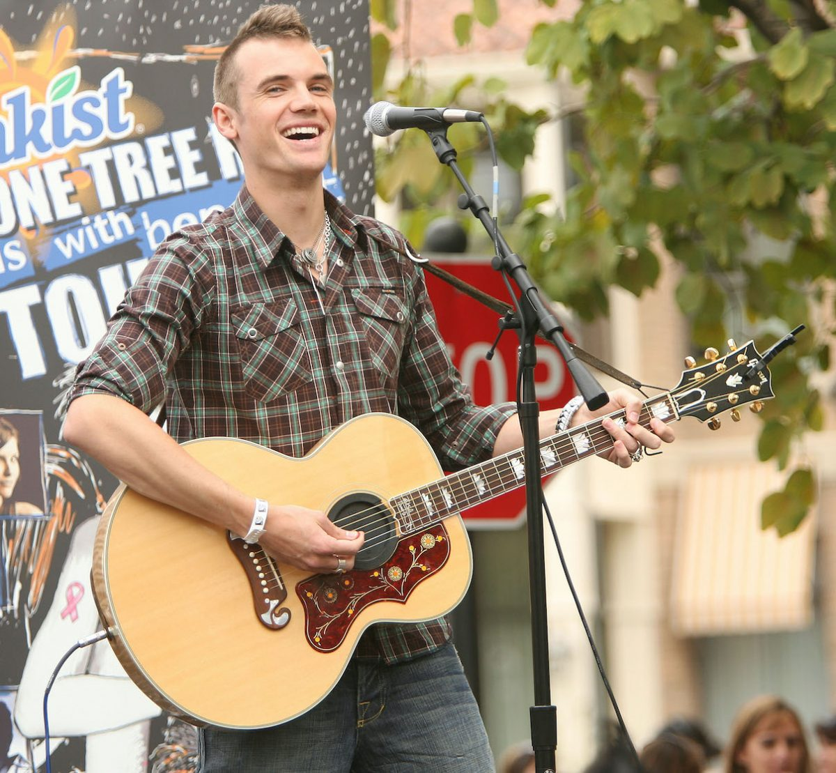 Tyler Hilton performs during the Sunkist 'One Tree Hill' Friends with Benefits Tour