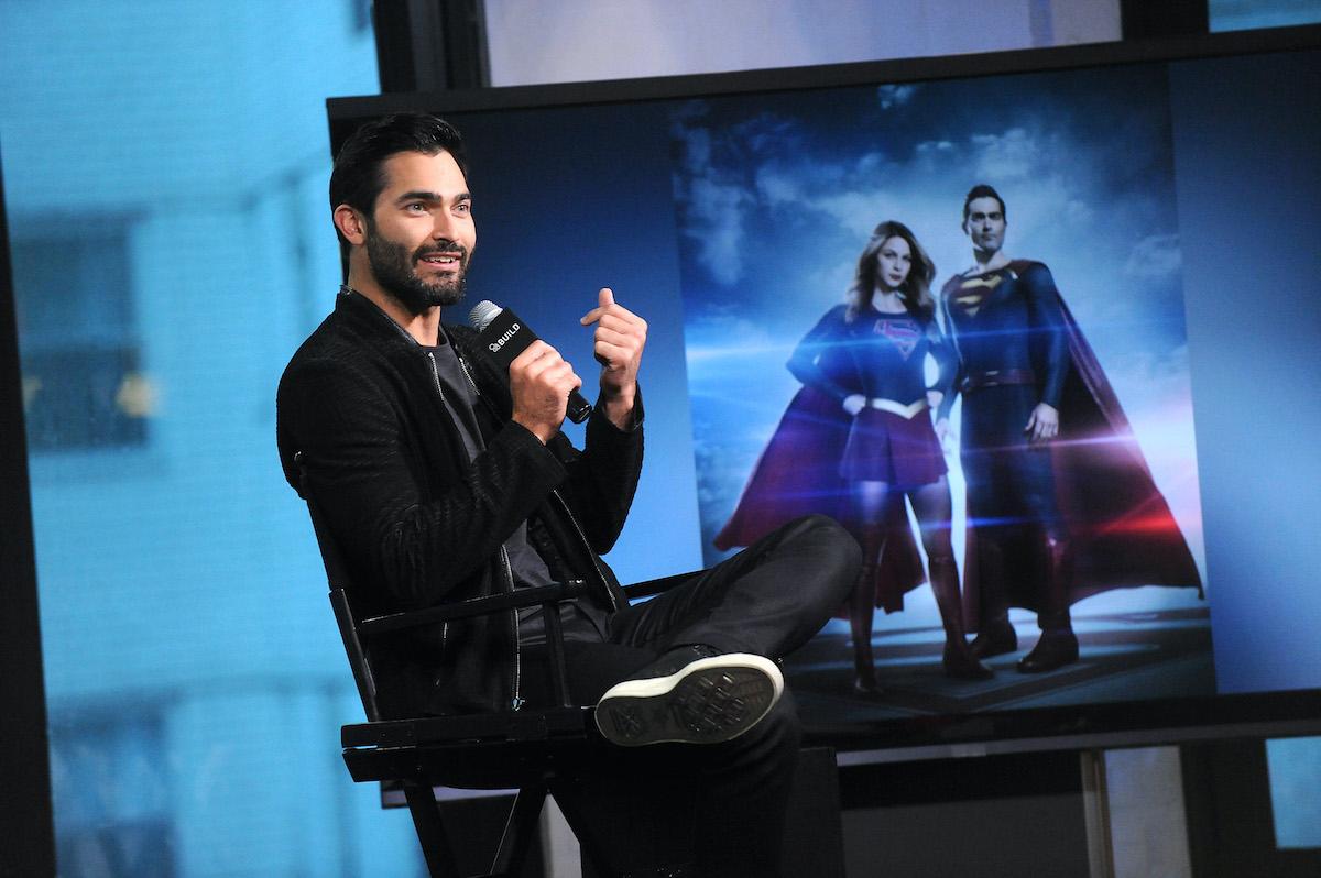 Tyler Hoechlin discussing 'Supergirl'