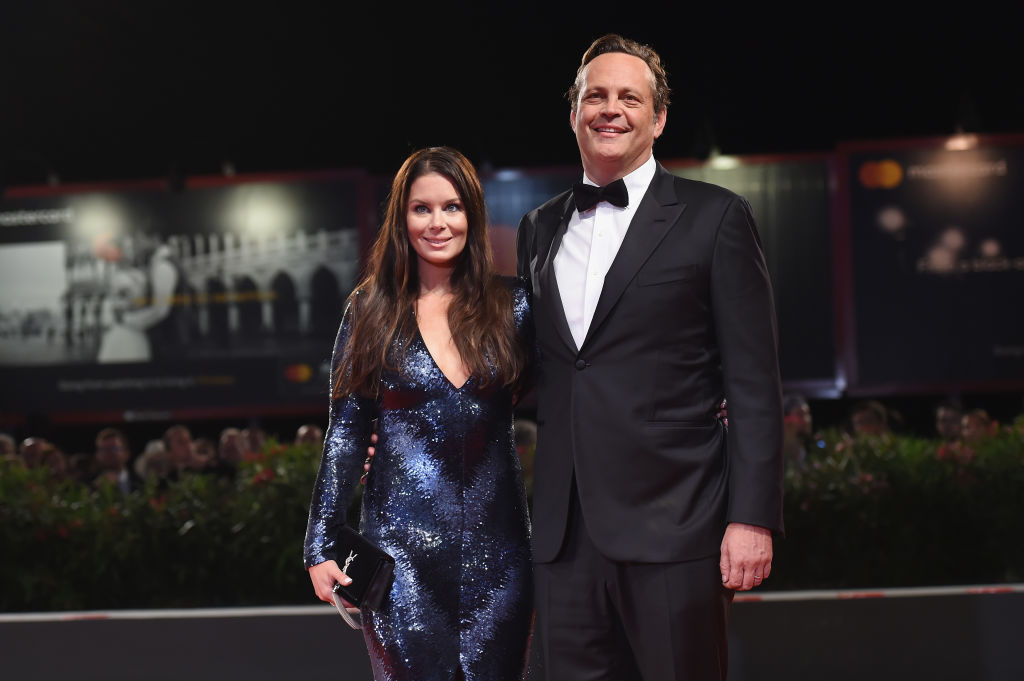 Vince Vaughn and wife