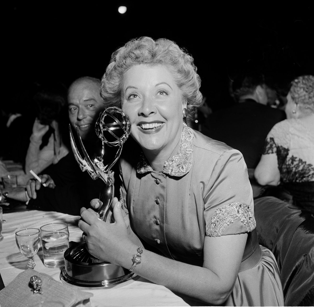 Vivian Vance poses at the Emmy Awards