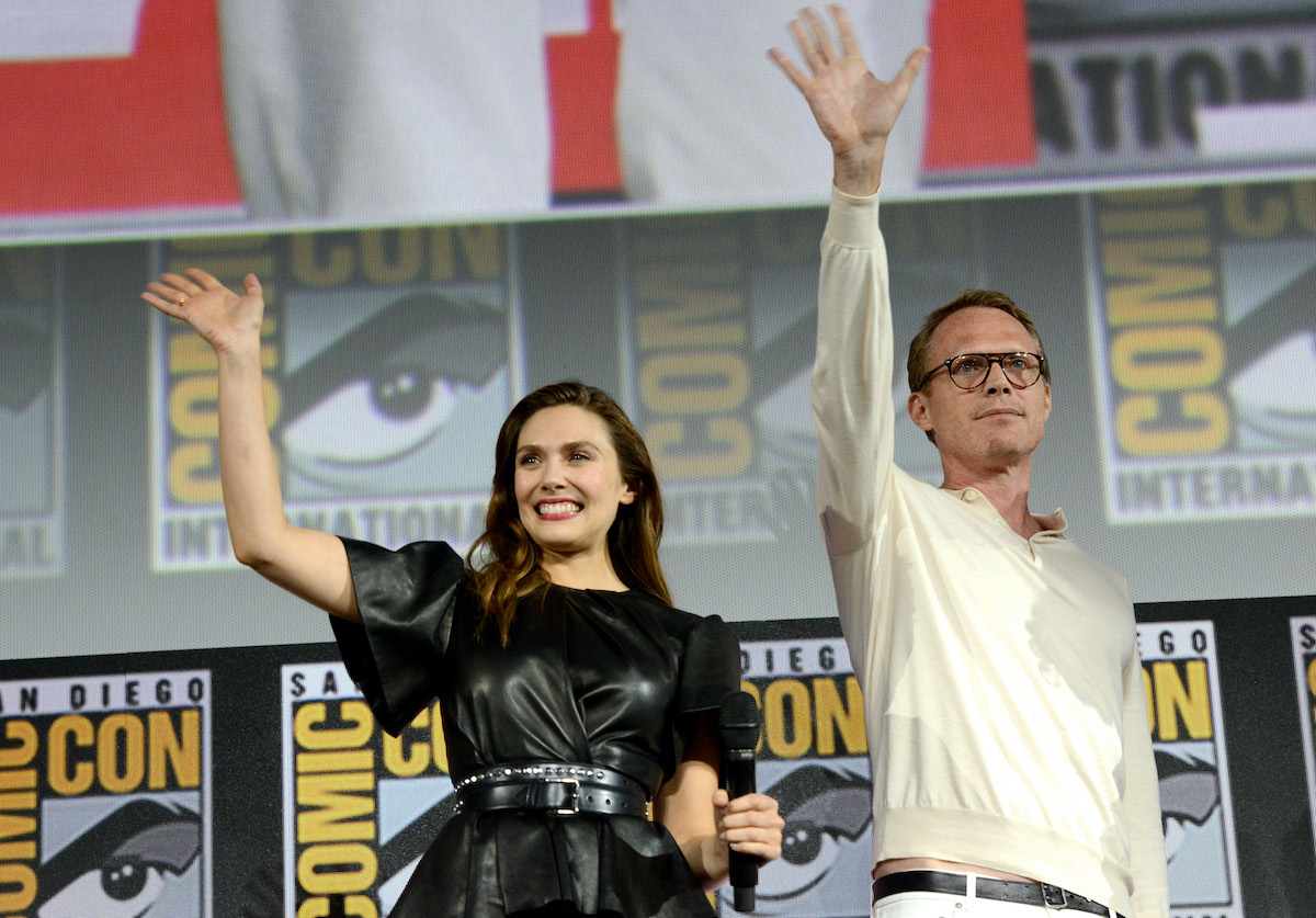 Elizabeth Olsen and Paul Bettany at the 2019 San Diego Comic-Con