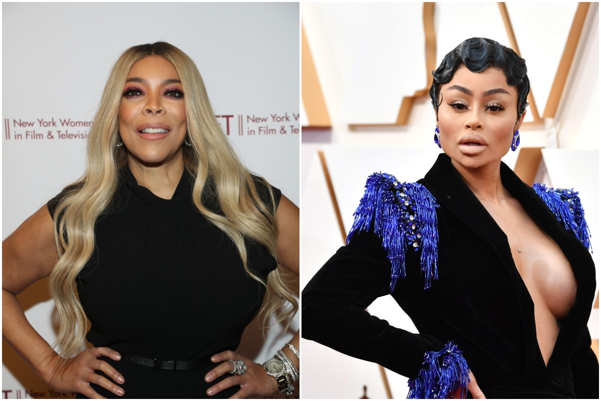 Wendy Williams attends the 2019 40th Annual NYWIFT Muse Awards at New York Hilton Midtown on December 10, 2019 in New York City./Blac Chyna attends the 92nd Annual Academy Awards at Hollywood and Highland on February 09, 2020 in Hollywood, California.