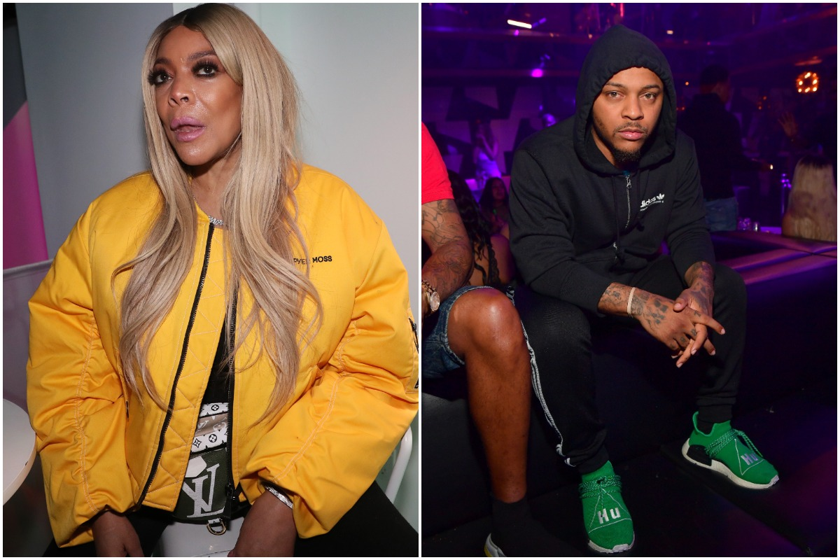 """Wendy Williams attends the """"New Cash Order"""" Documentary Screening at Lighthouse International Theater on February 20, 2020 in New York City./ Bow Wow attends Ladies Love R&B at Gold Room on May 16, 2019 in Atlanta, Georgia."""