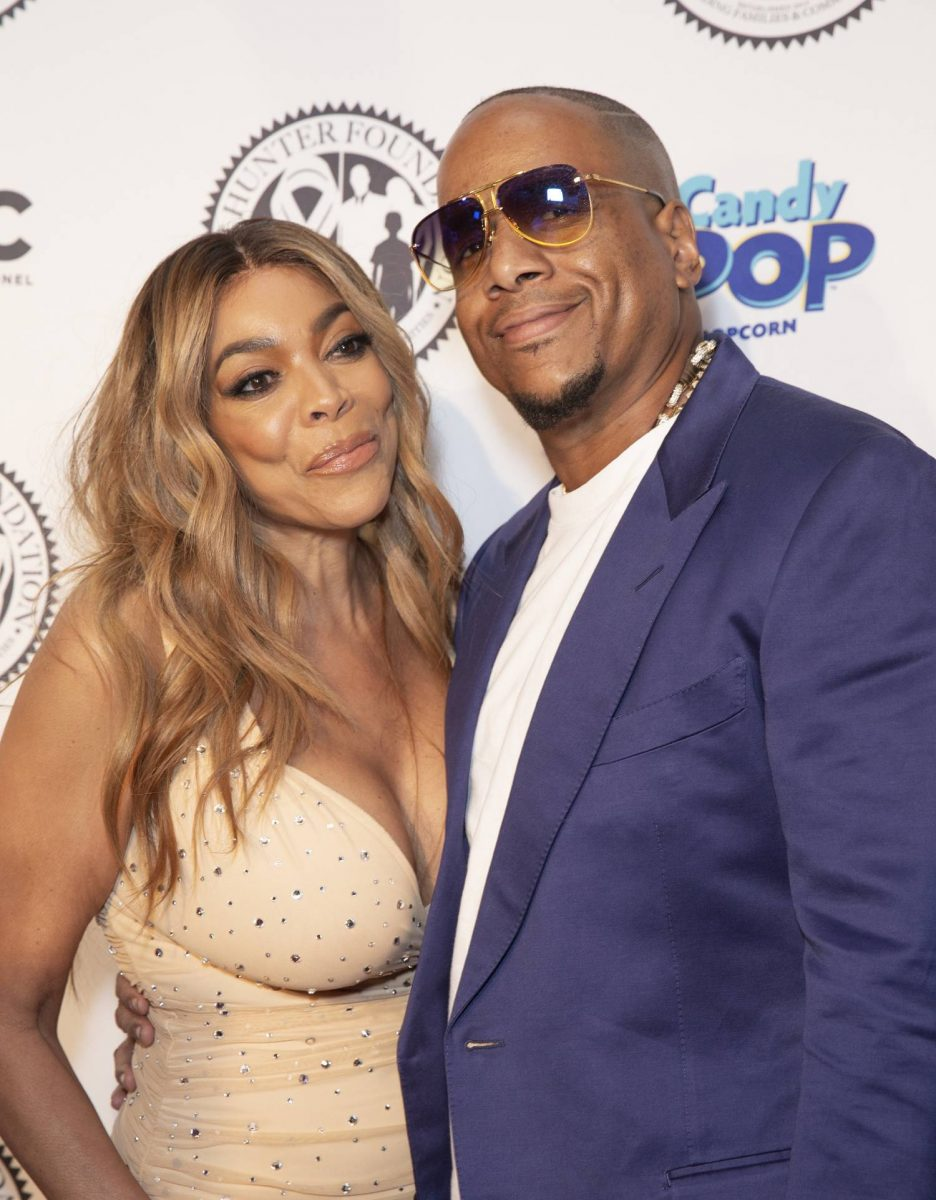 Wendy Williams wearing dress by Norma Kamali and Kevin Hunter attend Wendy Williams and The Hunter Foundation gala at Hammerstein Ballroom.