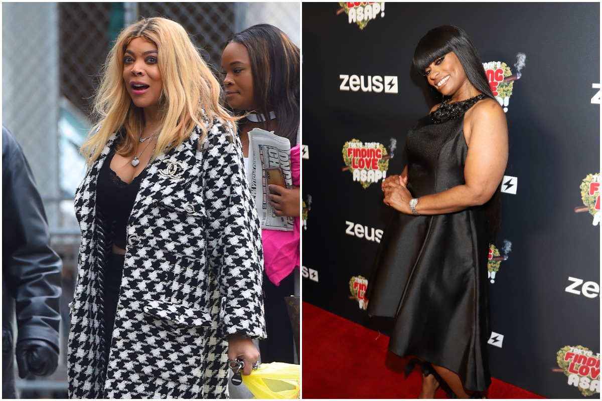 """Wendy Williams seen out walking in Manhattan on February 18, 2020 in New York City./Tokyo Toni attends """"Tokyo Toni's Finding Love ASAP"""" Los Angeles premiere at AMC Theaters Universal City Walk on November 08, 2019 in Universal City, California."""