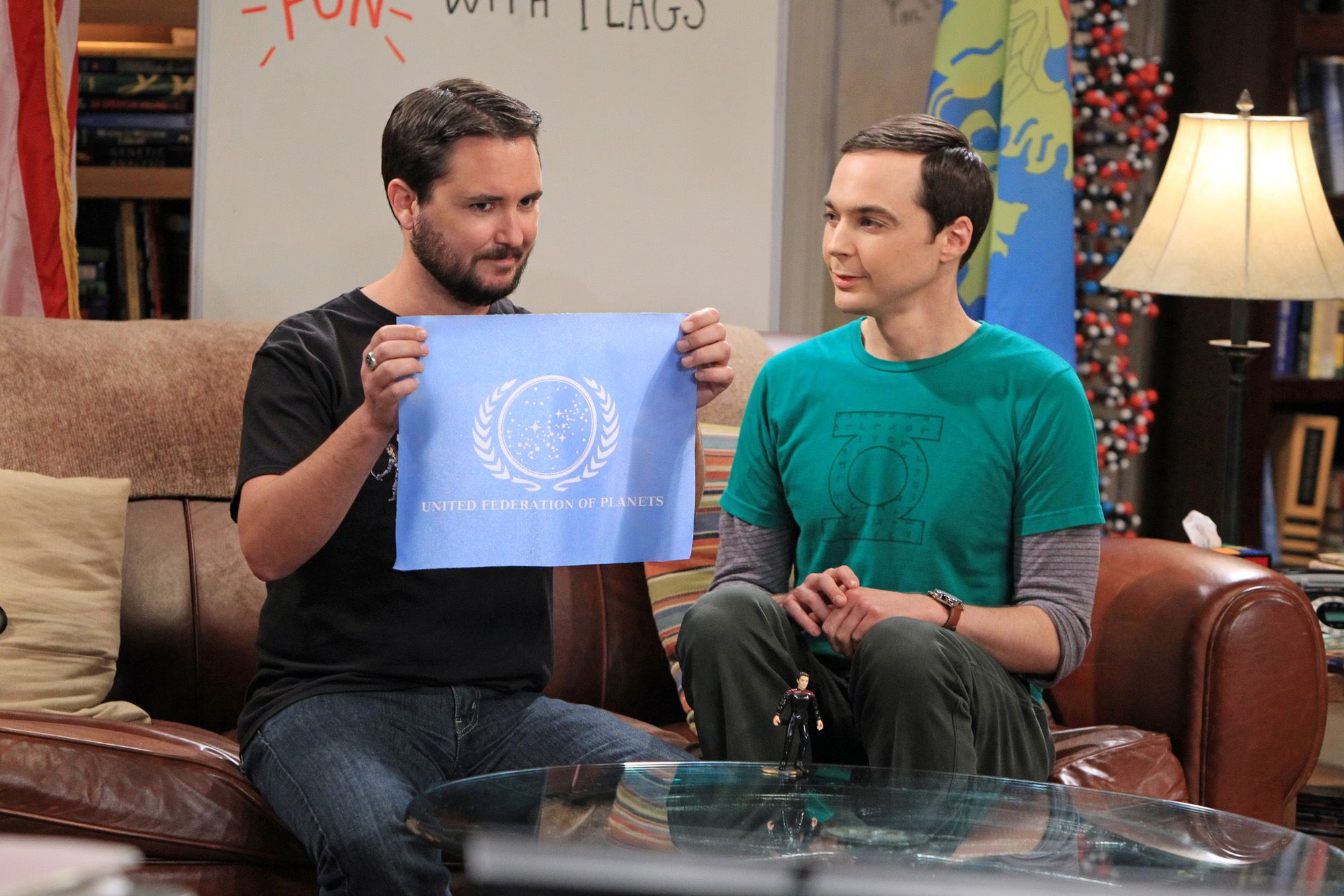 Wil Wheaton and Jim Parsons in 'The Big Bang Theory'