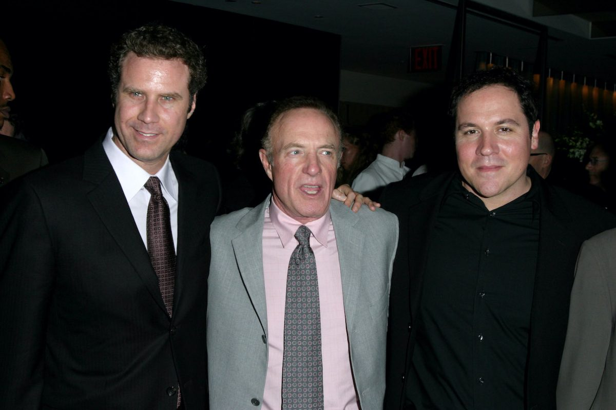 Will Ferrell, James Caan, and Jon Favreau at the premiere of 'Elf'