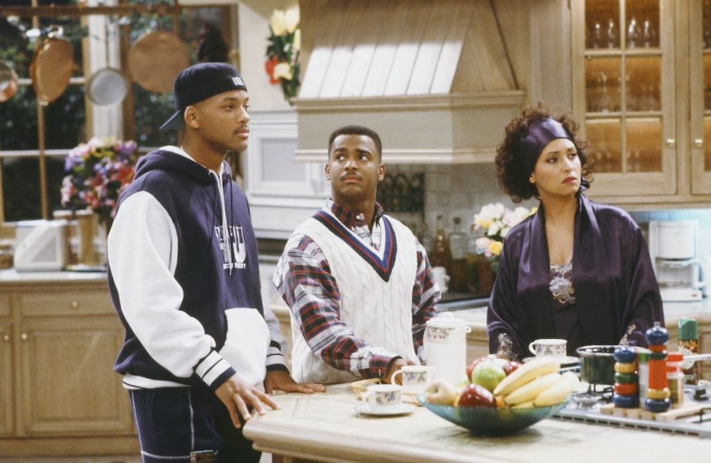 Will Smith, Alfonso Ribero, and Daphne Reid in 'The Fresh Prince of Bel-Air'