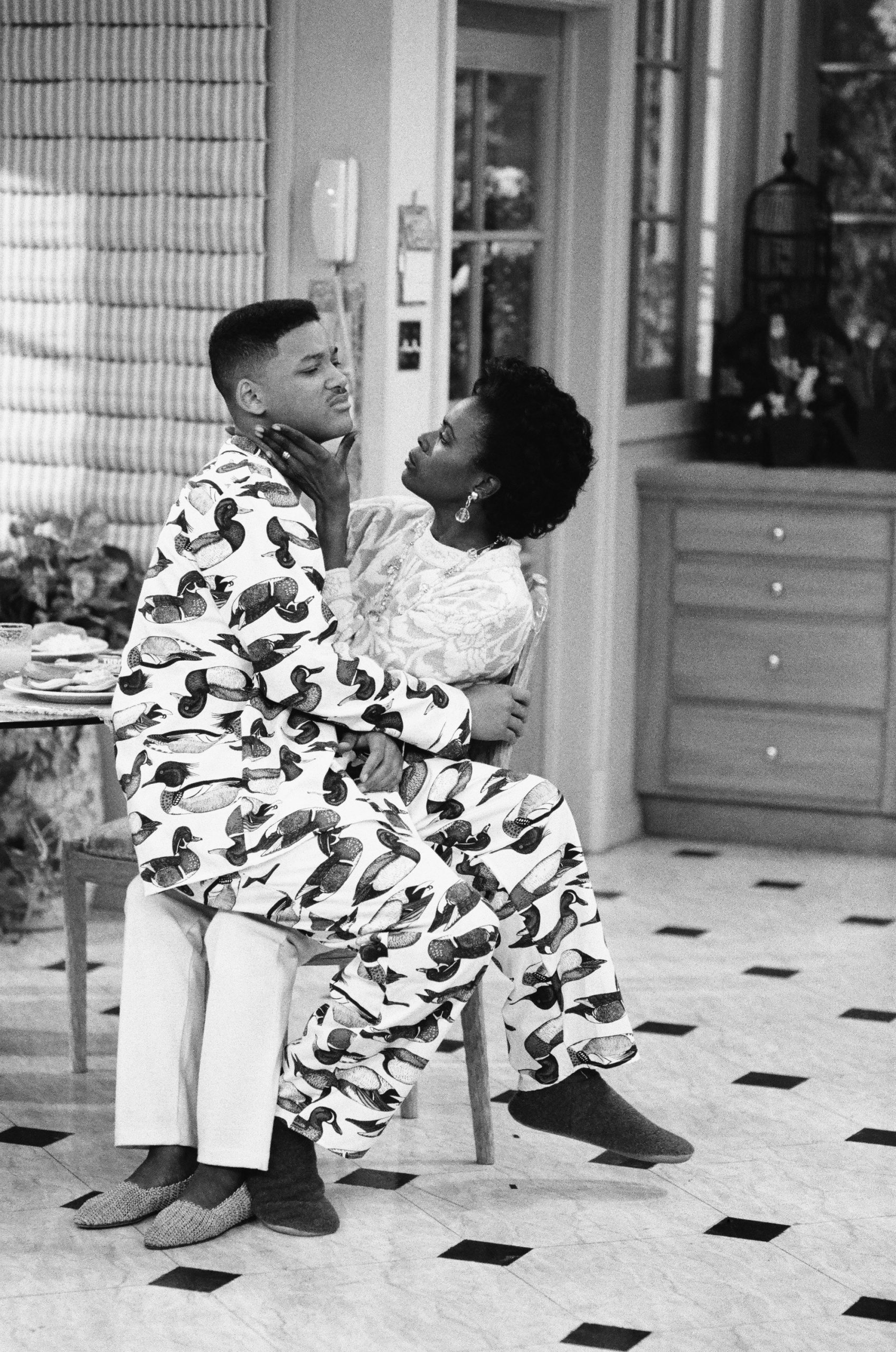 """THE FRESH PRINCE OF BEL-AIR -- """"Ill Will"""" Episode 18 -- Pictured: (l-r) Will Smith as William 'Will' Smith, Janet Hubert as Vivian Banks"""