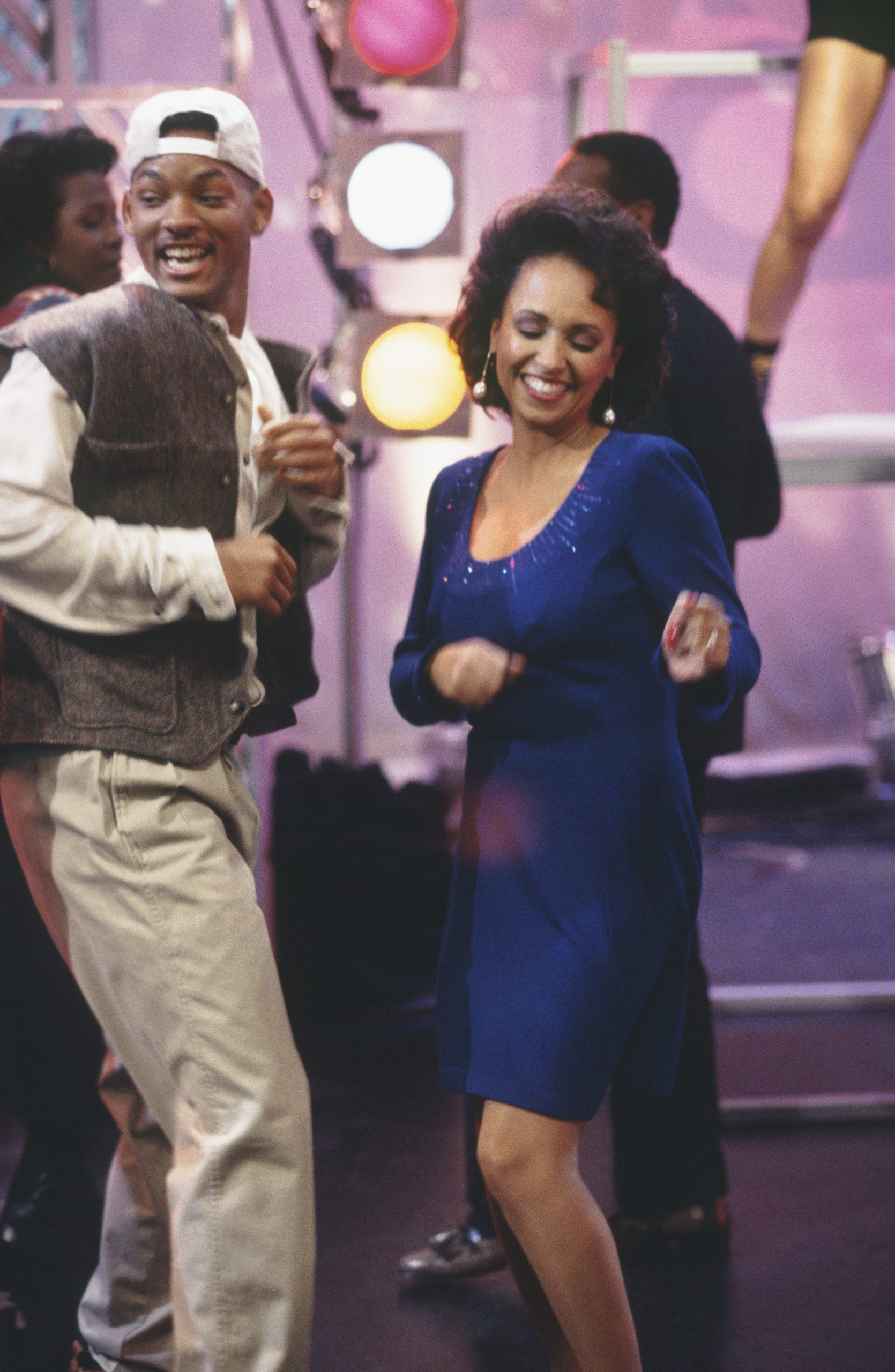 """THE FRESH PRINCE OF BEL-AIR -- """"Soooooooul Train"""" Episode 8 -- Air Date 11/07/1994 -- Pictured: (l-r) Will Smith as William 'Will' Smith, Daphne Reid as Vivian Banks"""