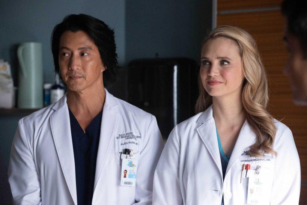 Will Yun Lee and Fiona Gubelmann on The Good Doctor | Jack Rowand/ABC via Getty Images