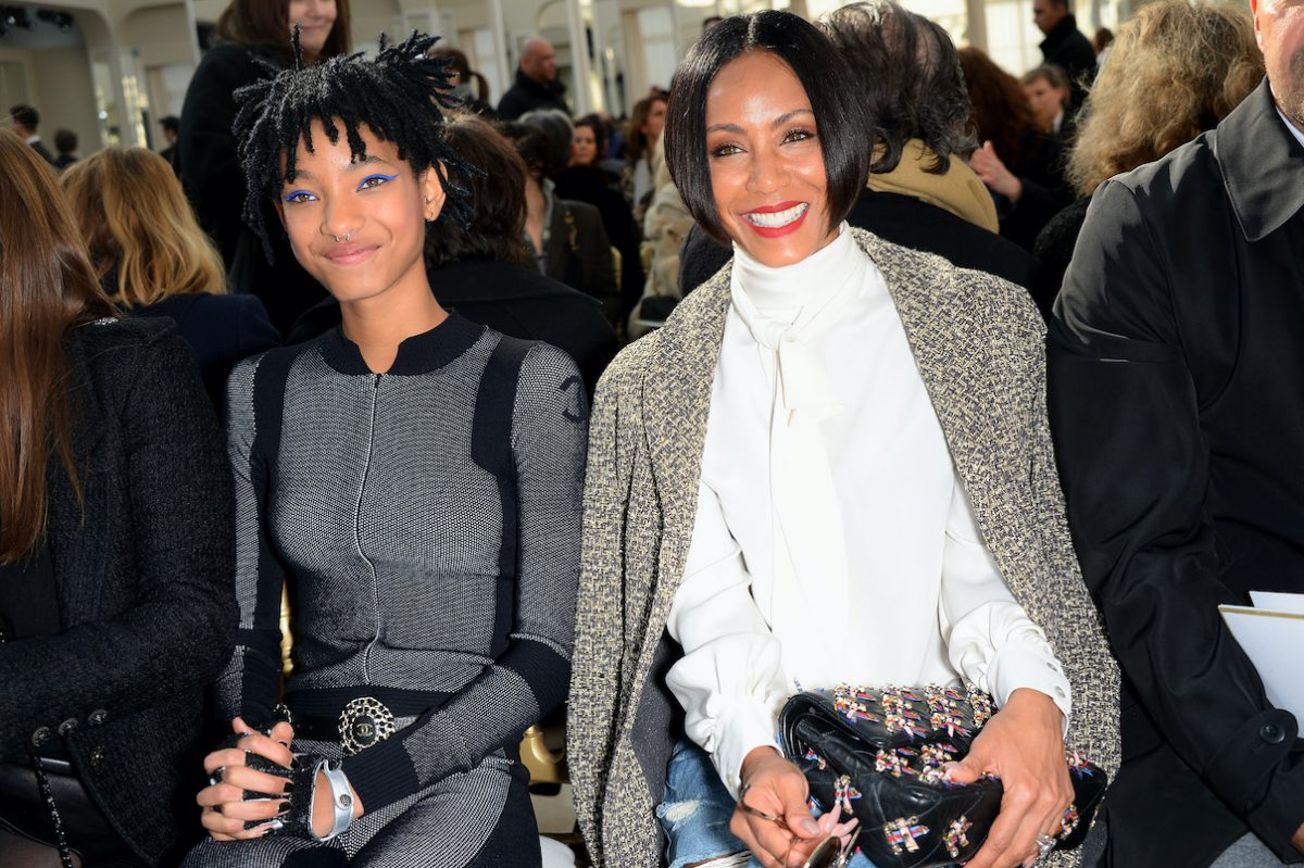 Willow Smith and Jada Pinkett Smith attend a Chanel fashion show as part of Paris Fashion Week in 2016
