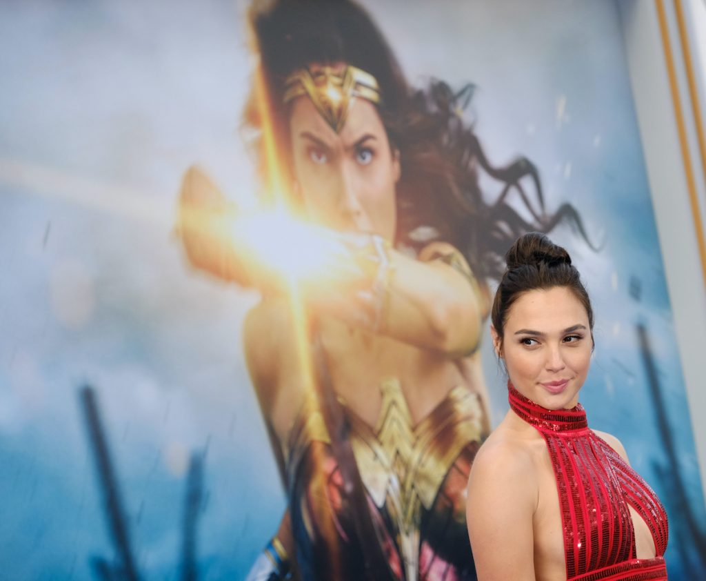 Gal Gadot at the world premiere of 'Wonder Woman'