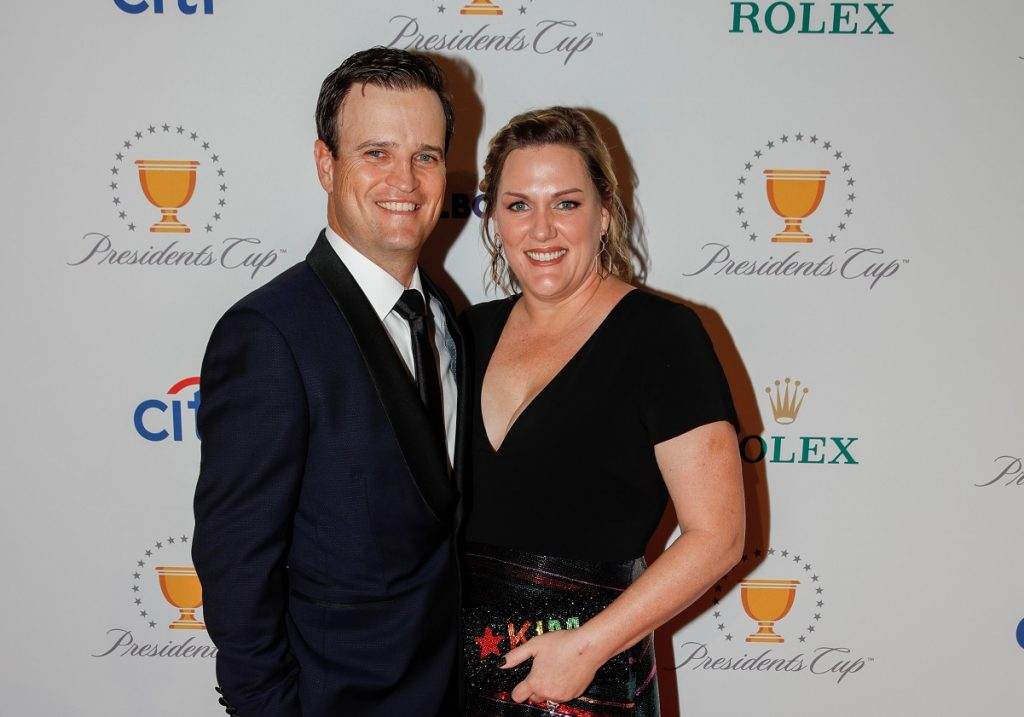 Zach Johnson and his wife, Kim