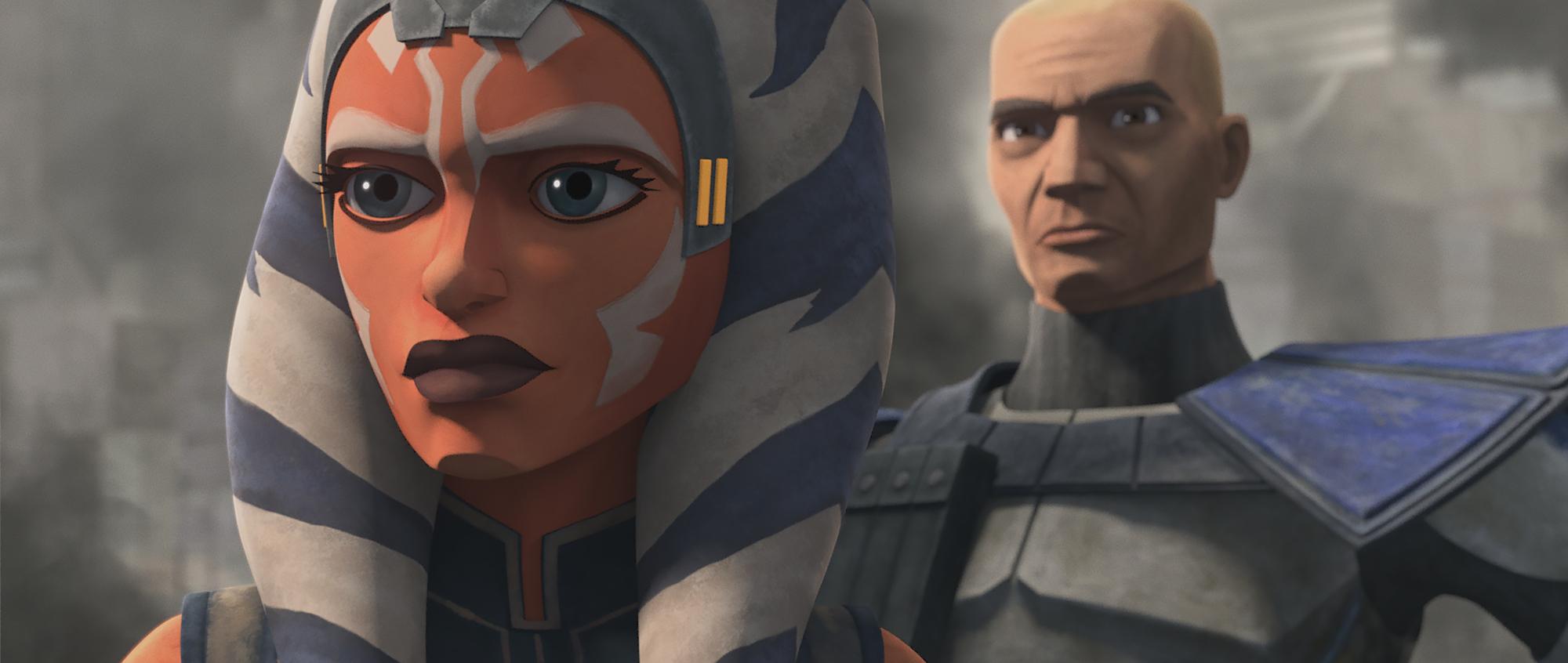 Ahsoka and Rex in Season 7, Episode 11 'The Clone Wars.'