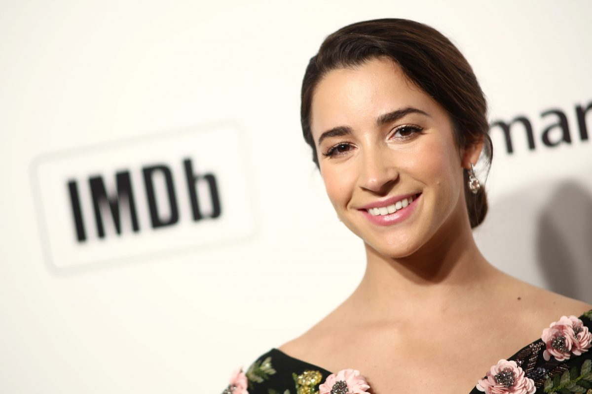 Aly Raisman at the Elton John AIDS Foundation Academy Awards Viewing Party on February 09, 2020, in Los Angeles, California.