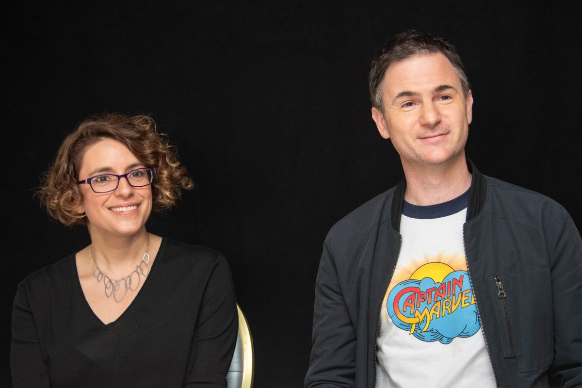 """Directors Anna Boden and Ryan Fleck at the 'Captain Marvel""""' Press Conference on December 22, 2018 in West Hollywood, California."""