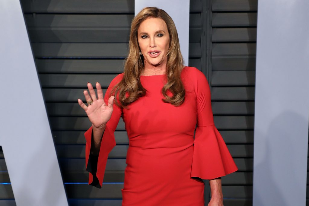 Caitlyn Jenner in a red dress