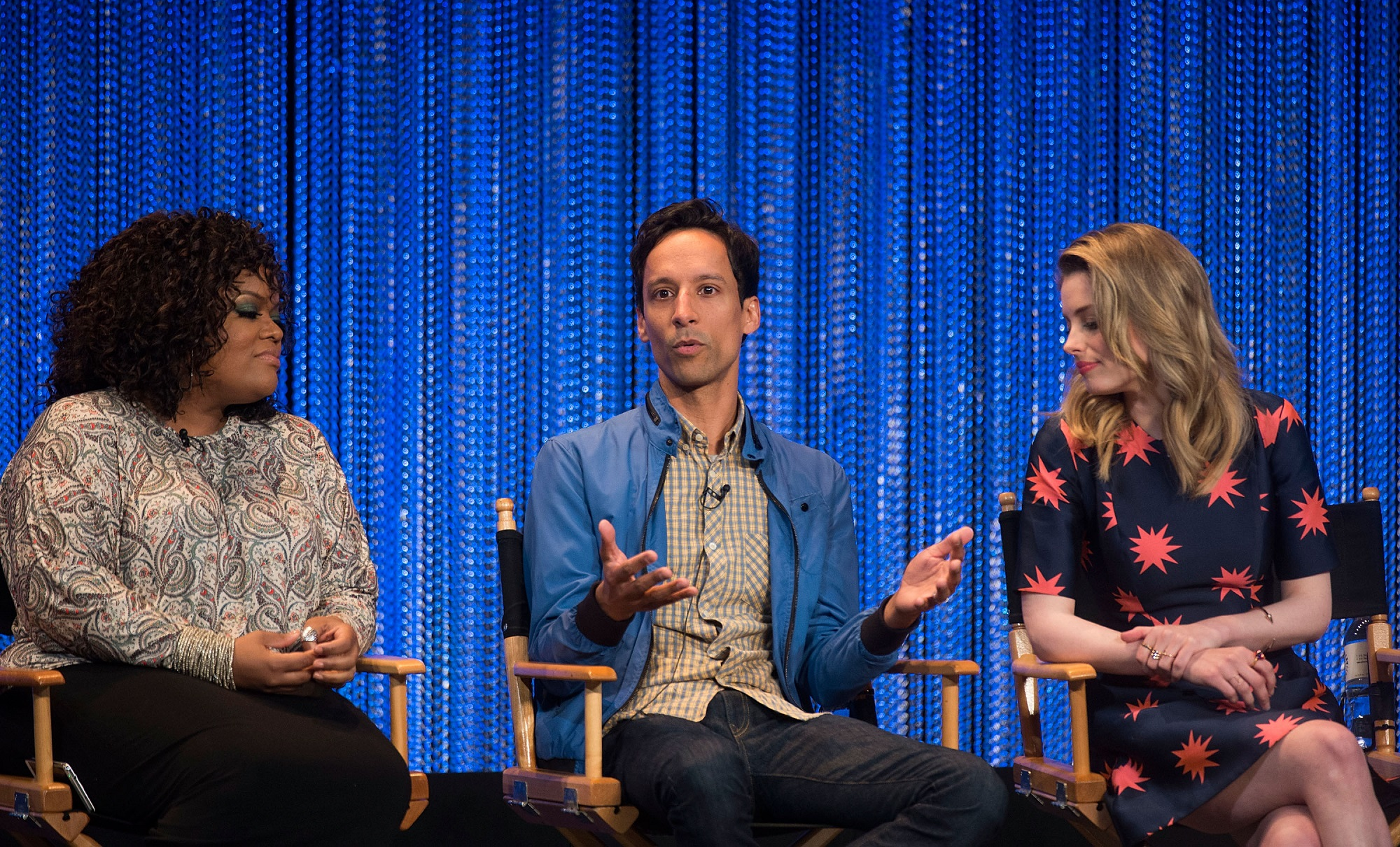 Yvette Nicole Brown, Danny Pudi, and Gillian Jacobs of Community