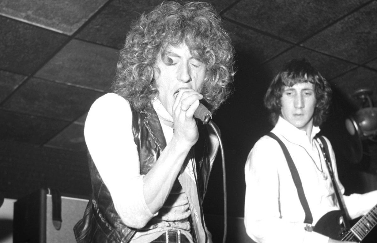 Roger Daltrey on stage in 1969