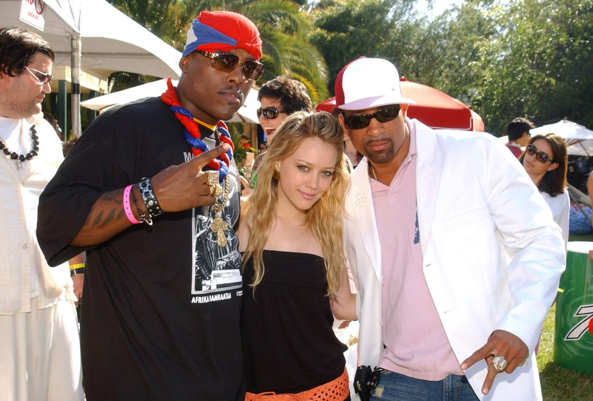 Won-G, Hilary Duff and Dorian Gregory