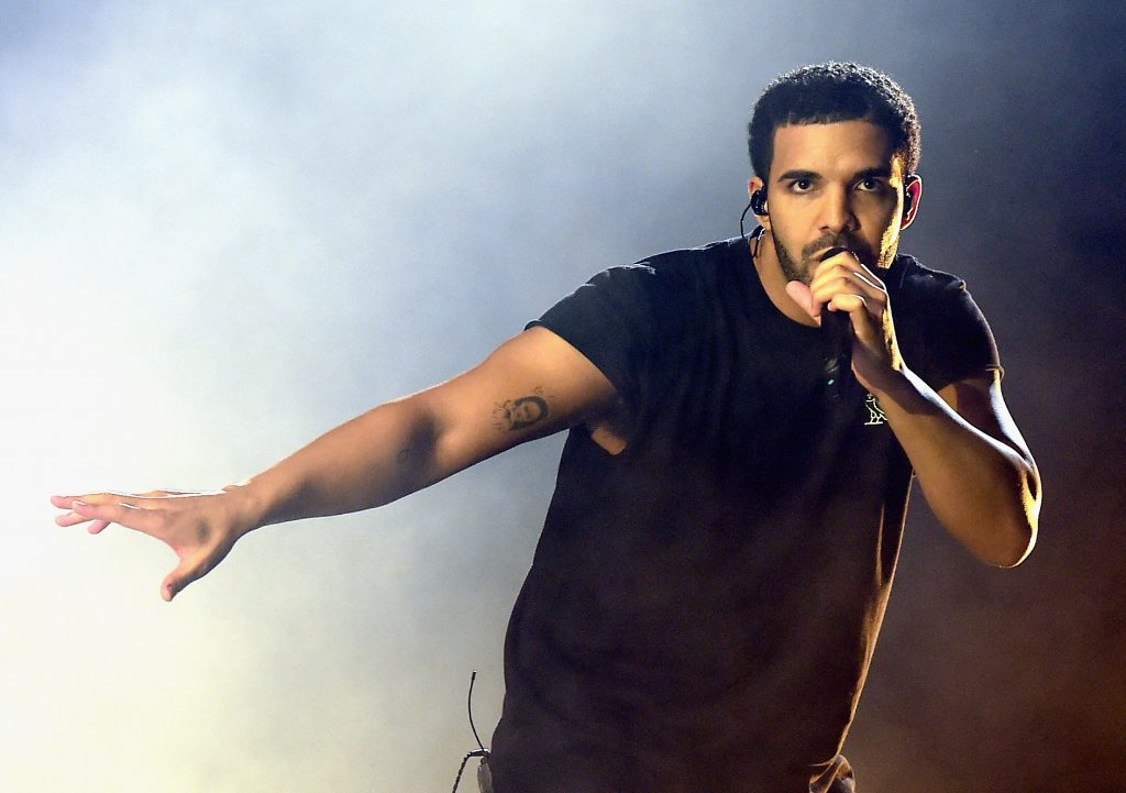 Drake with a microphone