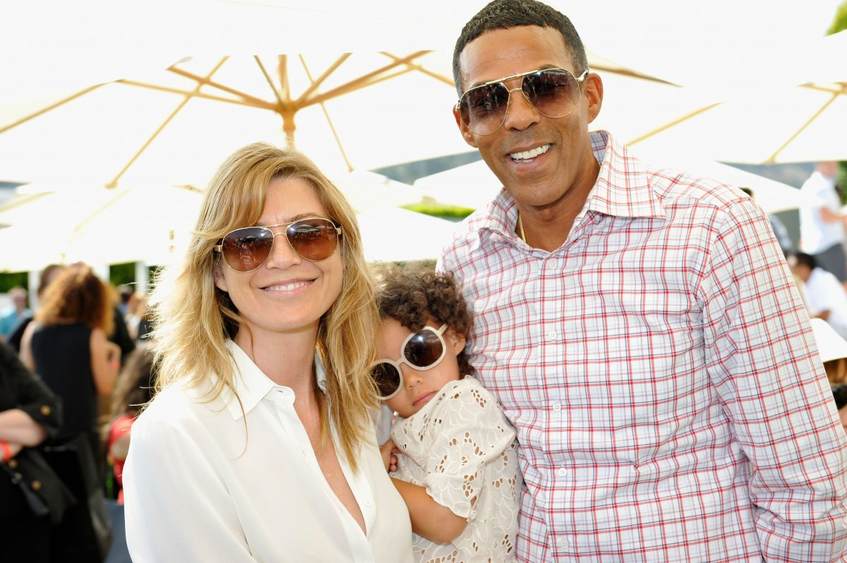 Ellen Pompeo and Chris Ivery with daughter Stella Ivery on June 9, 2013, in Beverly Hills, California.