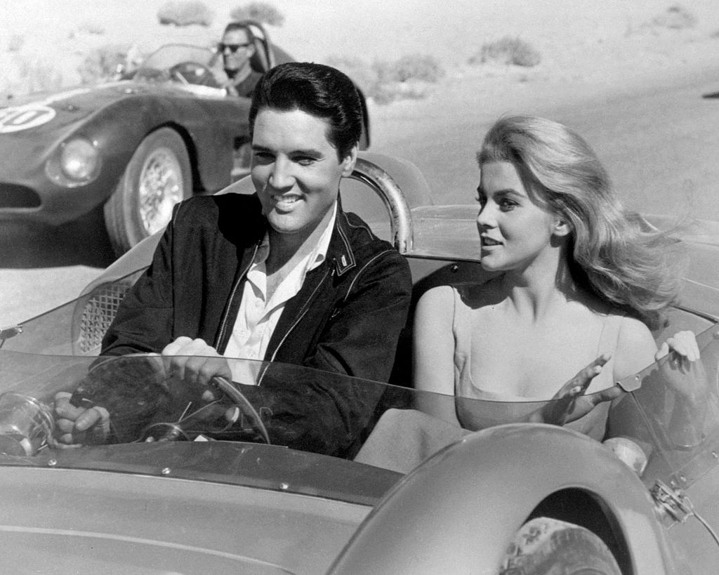 Elvis Presley and Ann-Margret in a car