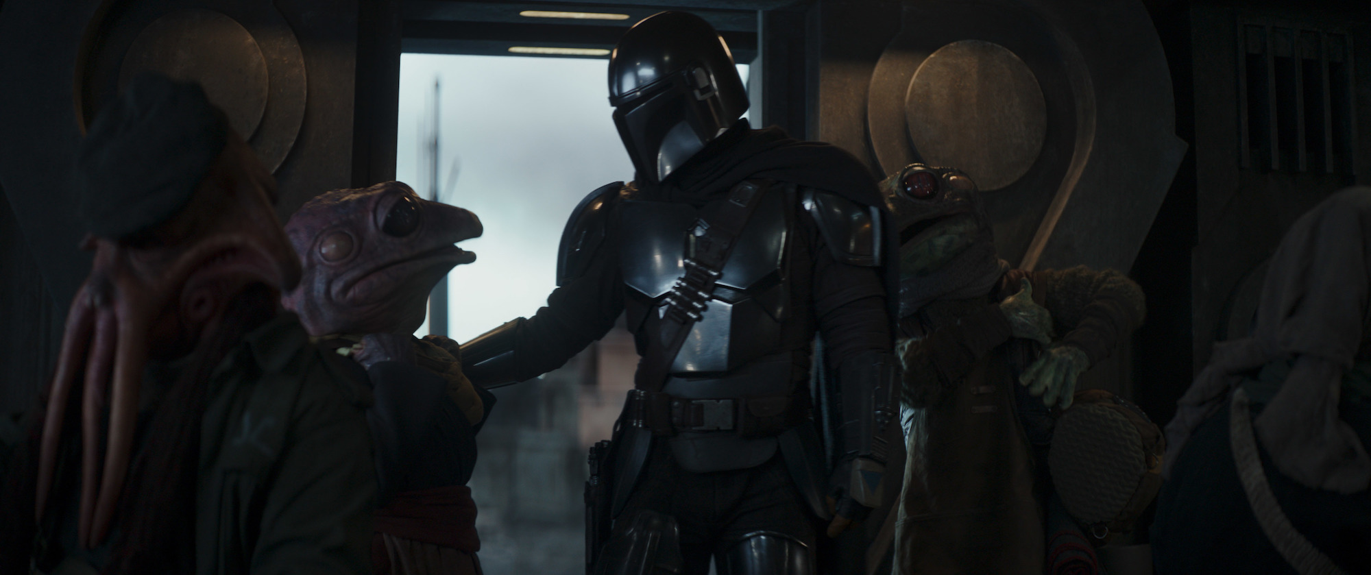 """Frog Lady and Mando in 'The Mandalorian' """"Chapter 11"""""""