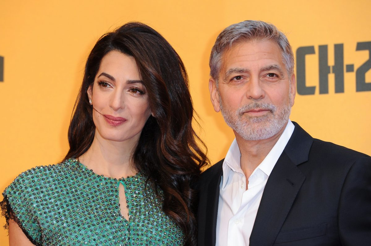 George Clooney and Amal Clooney attend the premiere of the Sky TV series Catch-22 in 2019