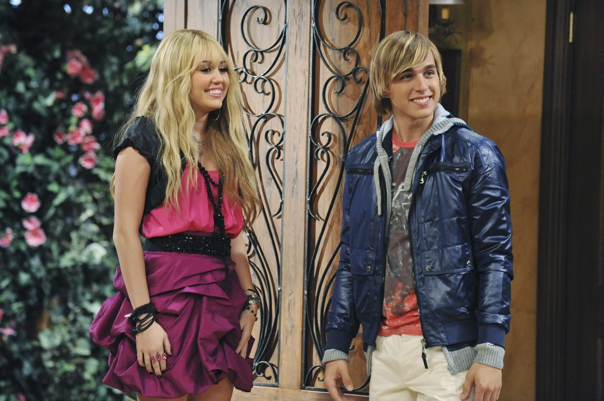 Miley Cyrus and Cody Linley in 'Hannah Montana'